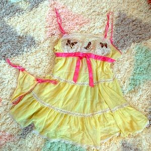 Betsey Johnson Sheer Sexy and Sweet Nightgown